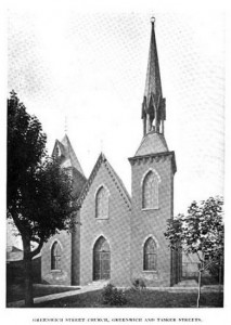 """Greenwich Street Church, Greenwich and Tasker"" 