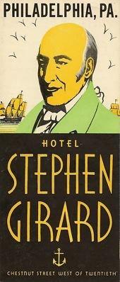 Hotel Stephen Girard Brochure, circa 1940