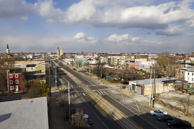 American Street looking north from the roof of the Crane Arts building | Photo: Peter Woodall