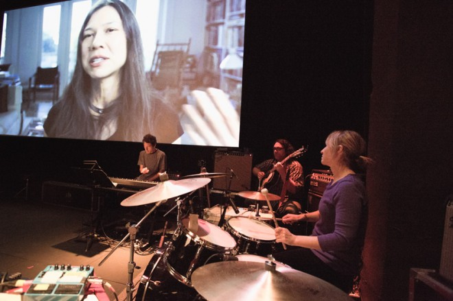 Yo La Tengo performs a live score for The Love Song of R. Buckminster Fuller | Photo: Ed Dittenhoefer, Ithaca Times (2012)