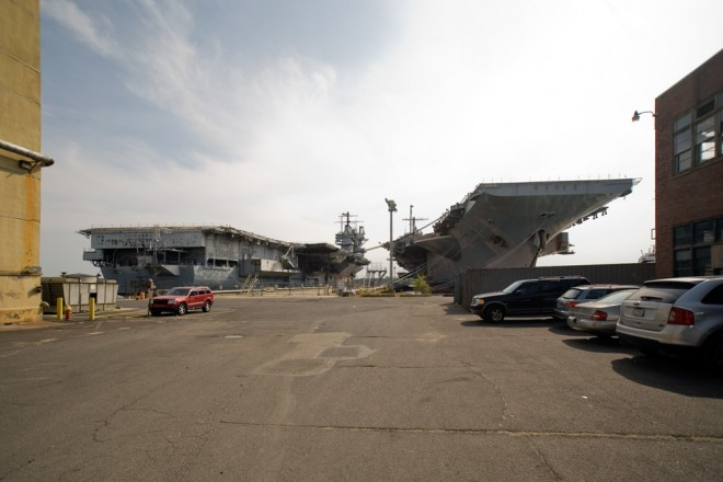 Carrier town: USS Forrestal (left) and USS JFK | Photo: Bradley Maule