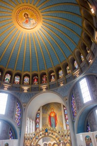 Under the dome at the Ukrainian Catholic Cathedral of the Immaculate Conception | Photo: Theresa Stigale
