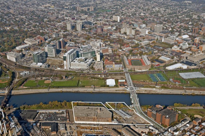 CHOP's city-within-a-city in University City, poised to leap the river onto Schuylkill Avenue | Composite by Ballinger, Pelli Clarke Pelli, and Cooper Robertson & Partners