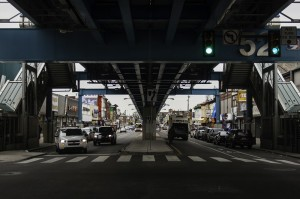 The nexus of West Philly's Main Street: under the el at 52nd & Market | Photo: Stephen Ives
