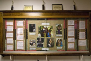 Display case in the Tindley Temple office dedicated to President Barack Obama | Photo: Peter Woodall, 2011