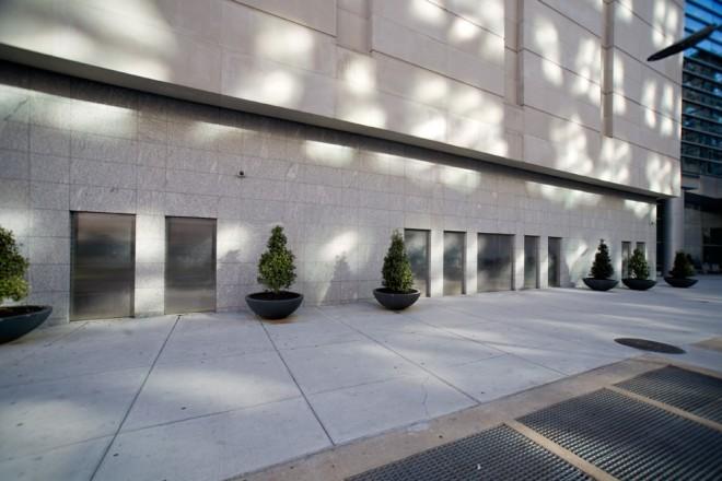 New look of North Broad Street: steel door-shaped-things that are not doors | Photo: Bradley Maule