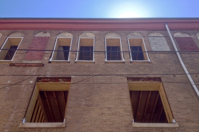The former synagogue and Antiquarian's Delight mid-renovation | Photo: Bradley Maule