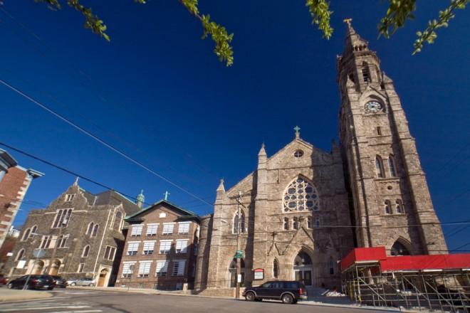 Left-right: St. John the Baptist's Girls High School, Elementary School, and Parish | Photo: Bradley Maule