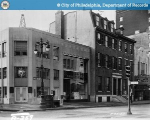 Southwest corner of 19th & Chestnut, circa 1953; note the Boyd Theatre, far right | Photo via PhillyHistory.org