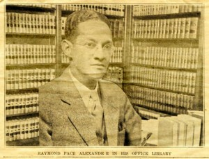 "This looks photoshopped: ""photo"" of Raymond Pace Alexander in his office library 