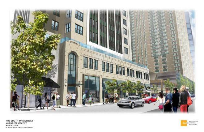 Into the future of 1900 Chestnut? | Rendering by DAS Architects, courtesy of Pearl Properties