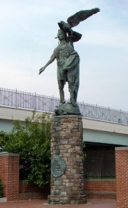 The Statue of Chief Tamanend at the entrance to I-95 | Photo: Harry Kyriakodis