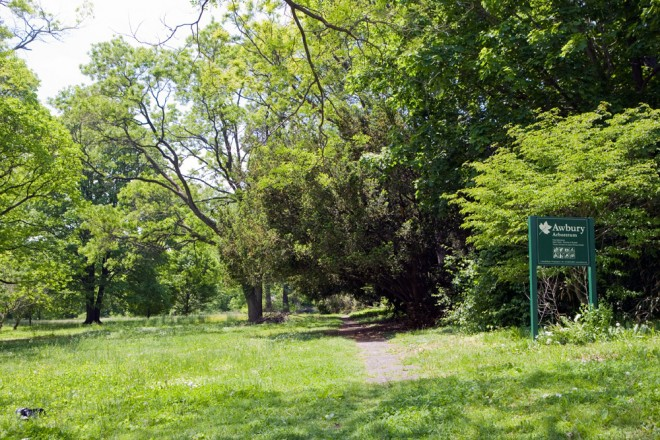 Ardleigh Street entrance to the arboretum, one of three access points off of city streets   Photo: Bradley Maule