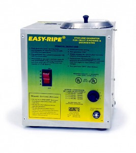 Ethylene generator for ripening bananas