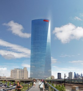 FMC Tower from Penn Park | Rendering courtesy of Brandywine Realty Trust and Pelli Clarke Pelli