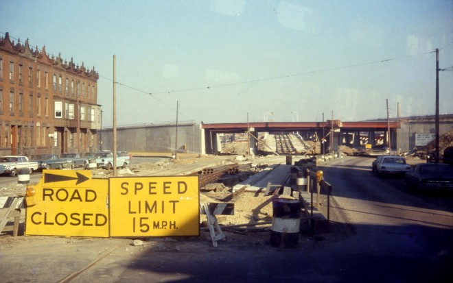 Looking east on Girard at Susquehanna. That's I-95 under construction | Photo: David Wilson