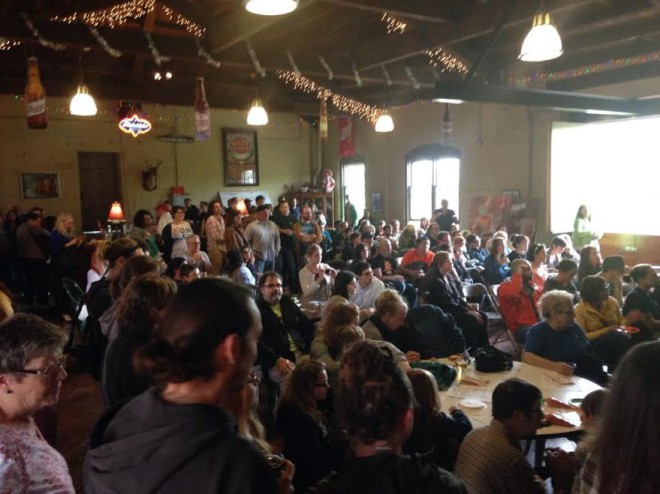 Kensington Community Food Co-op party announcing they've got a storefront | Photo courtesy of KCFC