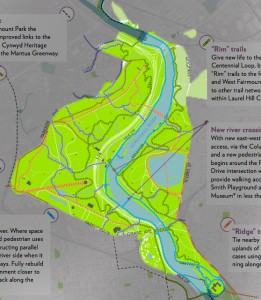 Trails to the future | Trail plan via The New Fairmount Park