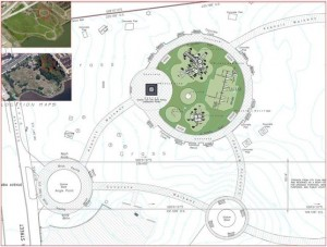Revised, circa-2014 plan for Penn Treaty Park | Image via Department of Parks & Recreation
