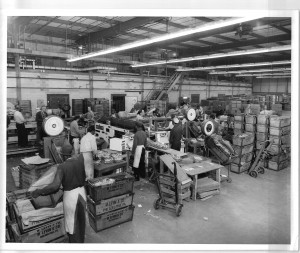 Inside M. Levin's recently built Pattison Avenue facility circa 1956 | Photo: Morris Levin