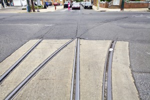 The intersections where Snyder Ave. crosses 11th and 12th St. have already been paved over. | Photo: Peter Woodall