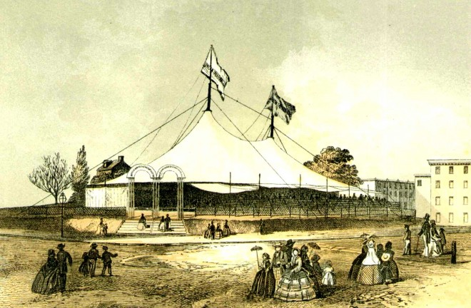 From The Union Tabernacle; or Moveable Tent-Church: Showing in Its Rise and Success a New Department of Christian Enterprise (1859).