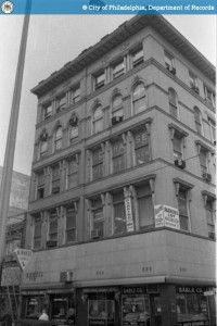 LeGar Building, 1965, already rocking two of the stores it has today. | Source: PhillyHistory.org