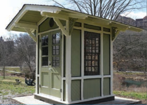 Restored Saylor Grove Guard Box | Photo: Fairmount Park Historic Preservation Trust