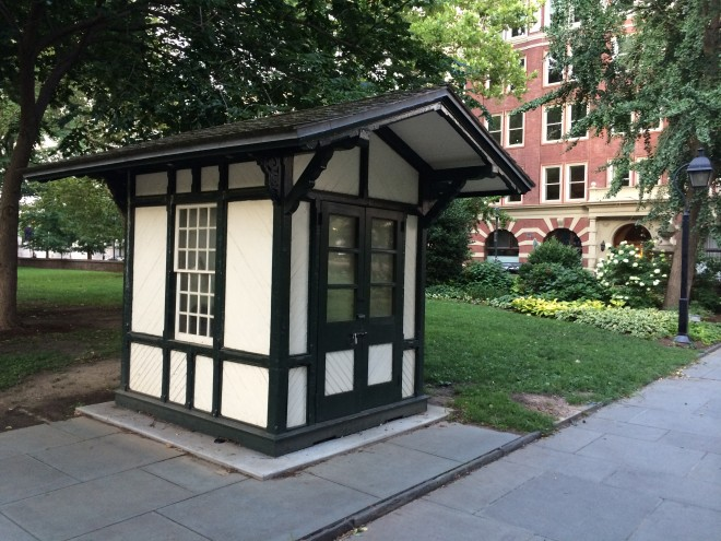 The restored Washington Sq. guard house | Photo: Rona Buchalter