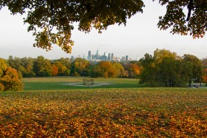 Philly Skyline, fantastic fall, 2002 (pre-Cira and Comcast Centers) | Photo: Bradley Maule