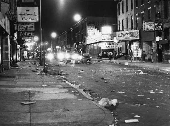 Aftermath of riot on Columbia Avenue