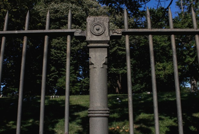 At Fair Hills Cemetery, holding on to the past has posed a challenge. Nearly a half of the original iron fencing has been lost to theft. | Photo: Michael Bixler