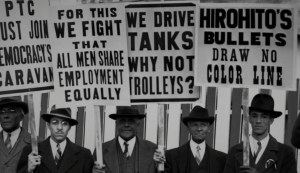 """We Drive Tanks Why Not Trolleys"" 