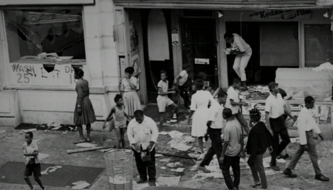 "Looting, August 1964 | Still from ""Promise,"" History Making Productions"