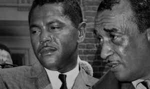 "Georgie Woods and Cecil B. Moore | Still from ""Promise,"" History Making Productions"