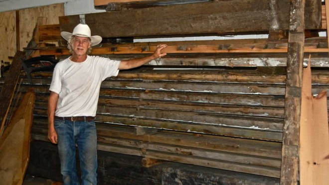 """Steve Ebner stands in Manayunk Timber, the city's only sawmill."" Photo: Emily Brooks, for NewsWorks"