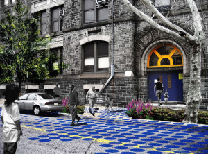 Project to connecting public spaces between Bache and Martin buildings | Image: Community Design Collaborative