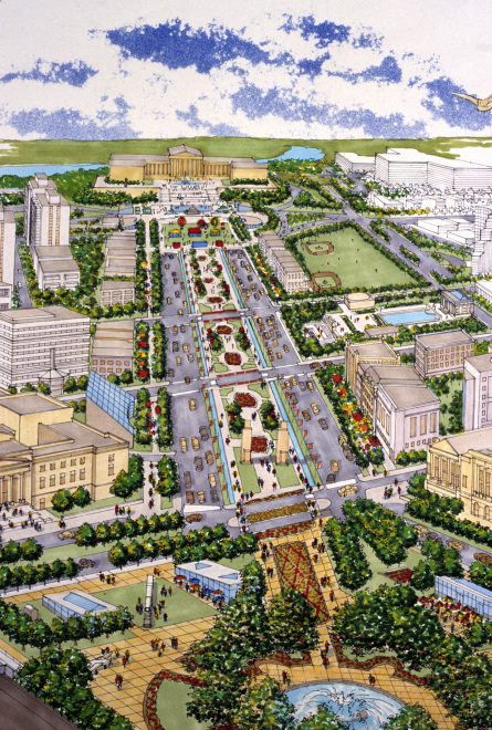 "Plan for ""Completing the Benjamin Franklin Parkway,"" 1999"