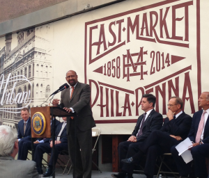Mayor Michael Nutter at East Market groundbreaking | Photo: Michael Bixler