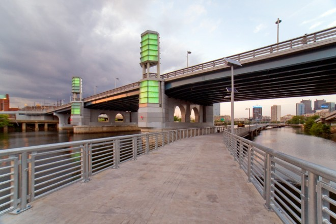 If you're not a fan of the changing lights of the South Street Bridge's towers, perhaps you can try them again from up close | Photo: Bradley Maule
