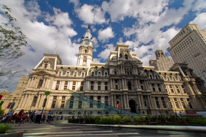 Come on up: the understated ascent to our glorious City Hall is Dilworth Park's finest asset | Photo: Bradley Maule