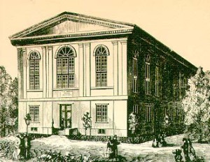 19th Century Sketch of the Wagner Free Institute | Public Domain