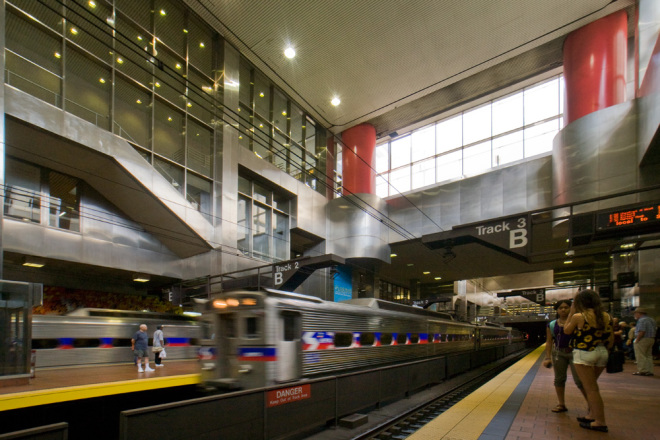 Bathed underground in natural light, Market East Station, opened 30 years ago | Photo: Bradley Maule