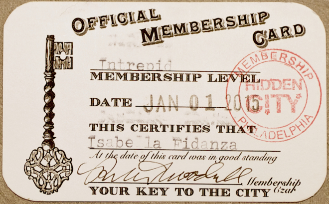 A finished membership card | Photo: Peter Woodall
