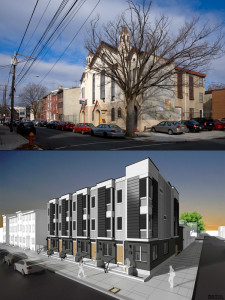 Before, after | Photo (top) by Bradley Maule; Rendering (bottom) by Paul Drzal, via Naked Philly
