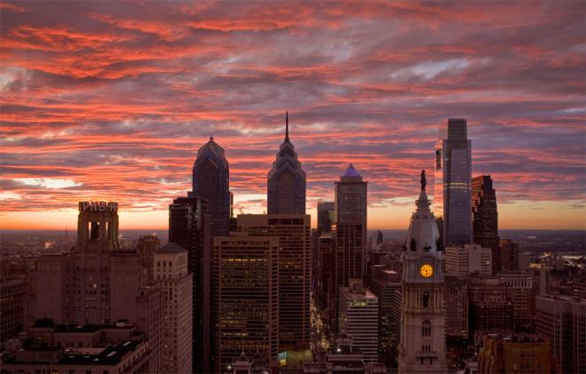 Philly Skyline, PNB in situ   Photo: Bradley Maule
