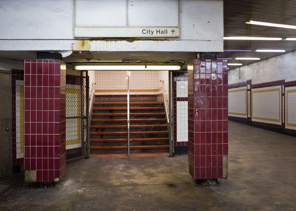 """The corridor under City Hall leading to the 87-year-old Broad Street Line station."" 