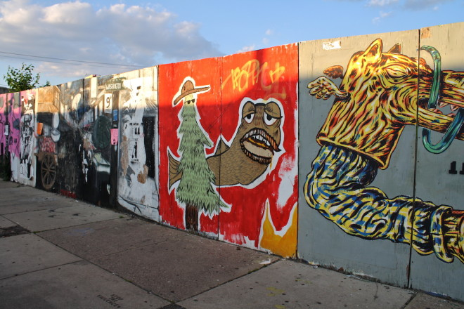Sun setting on the 9th Street mural circa 2013 | Photo: Conrad Benner, Streets Dept.