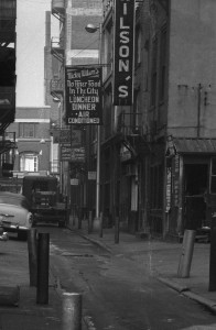 View of Ranstead Street, 1959, the sign for Billy Krechmer's is visible in the center (Photo courtesy of PhillyHistory.org, a project of the Philadelphia Department of Records)