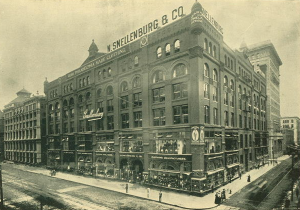 N. Snellenberg & Co., 1899, SE corner 12th and Market | Photo: The Official Office Building Directory and Architectural Handbook of Philadelphia 1899 , courtesy of Philadelphia Architects and Buildings